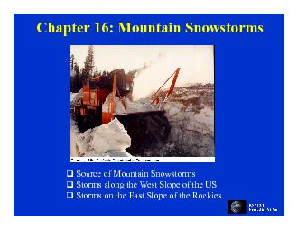 Chapter 16: Mountain SnowstormsChapter 16: Mountain Snowstorms