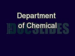 Department of Chemical