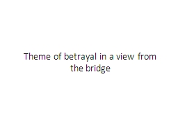 Theme of betrayal in a view from the bridge
