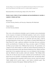 The final, definitive version of this paper has been published in the
