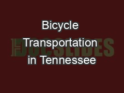 Bicycle Transportation in Tennessee
