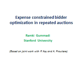 Expense constrained bidder optimization in repeated auction