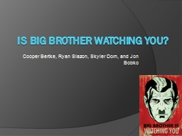 Is Big Brother