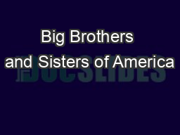 Big Brothers and Sisters of America