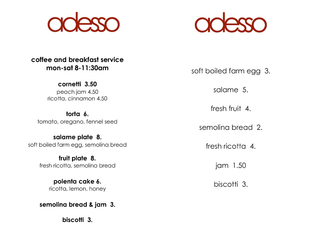 coffee and breakfast service