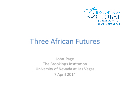 Three African Futures