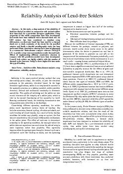 hermal and mechanical continuity in electronic