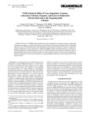 NMRChemicalShiftsofTraceImpurities:CommonLaboratorySolvents,Organics,a