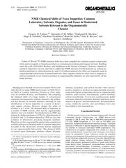 NMRChemicalShiftsofTraceImpurities:CommonLaboratorySolvents,Organics,a PowerPoint PPT Presentation