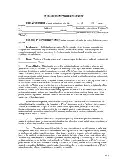 EXCLUSIVE SONGWRITER CONTRACT