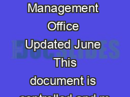 Defense Travel Management Office Updated June  This document is controlled and m