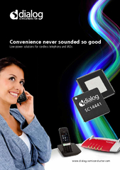 Convenience never sounded so goodLow-power solutions for cordless tele