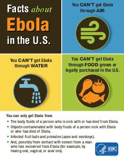 CSA Facts about Ebola You cant get Ebola through water You cant get Ebola throug