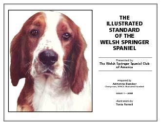 ILLUSTRATED STANDARDSPANIELThe Welsh Springer Spaniel ClubTonia Farnel