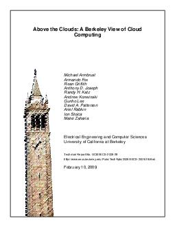 Above the Clouds A Berkeley View of Cloud Computing Michael Armbrust Armando Fox PDF document - DocSlides