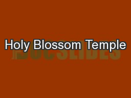 Holy Blossom Temple