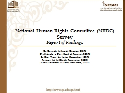 National Human Rights Committee (NHRC) Survey