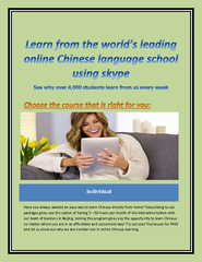Online Learning Chinese