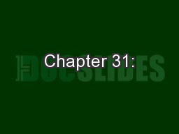 Chapter 31: