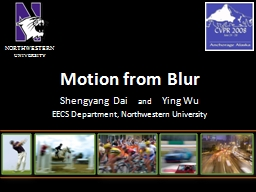 Motion from Blur