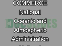 US DEPARTMENT OF COMMERCE National Oceanic and Atmospheric Administration National Weather Service May