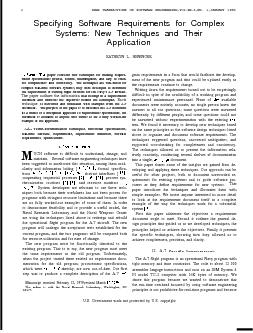 IEEE TRANSACTIONS ON SOFTWARE ENGINEERING,VOL.SE-6,N0. l,JANUARY 1980