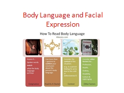 Body Language and Facial Expression PowerPoint PPT Presentation