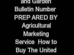 How to Buy EGGS United States Department of Agriculture Home and Garden Bulletin Number  PREP ARED BY Agricultural Marketing Service  How to Buy The United States Department of Agriculture USDA prohi