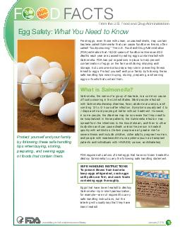 What You Need to Know Fresh eggs must be handled carefully to avoid the possibility of foodborne illness often called food poisoning PowerPoint PPT Presentation