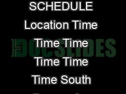 MORNING JITNEY SCHEDULE Location Time Time Time Time Time Time South Orange Ave