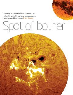NewScientist  14 September 2013The tally of splotches on our sun tells