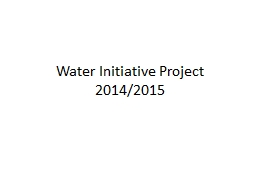 Water Initiative Project