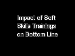 Impact of Soft Skills Trainings on Bottom Line