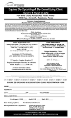 Clinic Registration Fees:Clinic Participant - $155.00 (bring your own