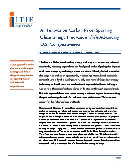 An Innovation Carbon Price: Spurring Clean Energy Innovation while Adv