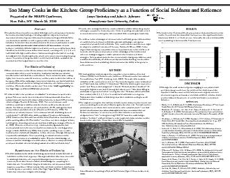 Too Many Cooks in the Kitchen: Group Proficiency as a Function of Soci
