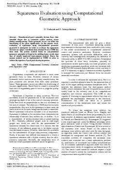 N. Venkaiah and N. Srinagalakshmi Abstract : Manufactured parts genera