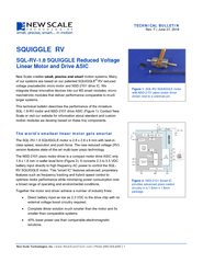 TECHNICAL BULLETIN: SQL-1.8-RV SQUIGGLE motor and NSD-2010 drive ASICN