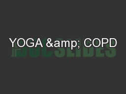 YOGA & COPD