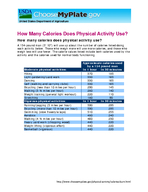 How Many Calories Does Physical Activity Use How many calories does physical activity use A  pound man   will use up about the number of calories listed doing each activity below