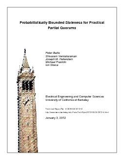 Probabilistically Bounded Staleness for PracticalPartial Quorums ...