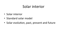 Solar interior PowerPoint PPT Presentation
