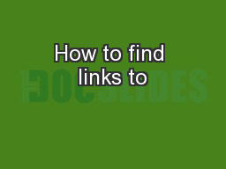 How to find links to