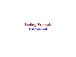 Sorting Example PowerPoint PPT Presentation