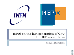 HS06 on the last generation of CPU for HEP server farm