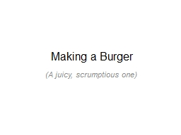 Making a Burger PowerPoint PPT Presentation