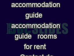 on campus accommodation guide   accommodation guide   rooms for rent  Contact de
