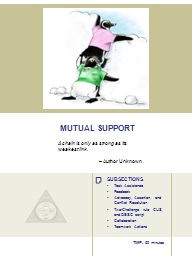 MUTUAL SUPPORT PowerPoint PPT Presentation
