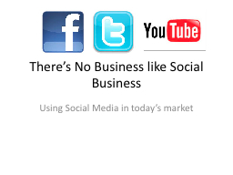 There's No Business like Social Business PowerPoint PPT Presentation