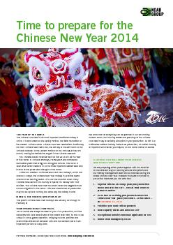 Time to prepare for the Chinese New Year  THE YEAR OF THE HORSE The Chinese New Year is the most important traditional holiday in China